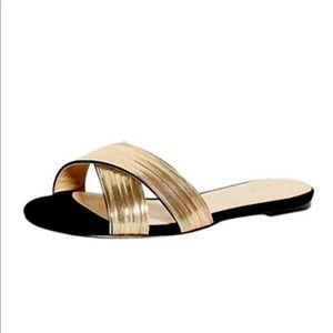 Botkier Black/Gold Millie Cross Sandal